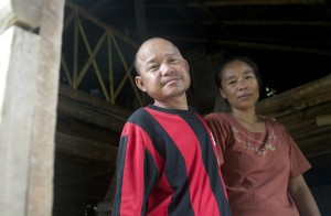 Kyi Htay, a Karen medic, with his wife. (PHOTO: Dene-Hern Chen)