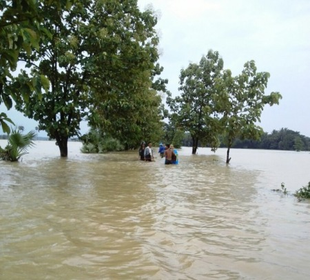 Flooding in the Irrawaddy delta region (PHOTO:DVB)