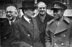 27 January 1947 – Met with British Prime Minister Clement Attlee in London. Signed Aung San- Attlee Agreement in London, guaranteeing Burma's independence within a year.
