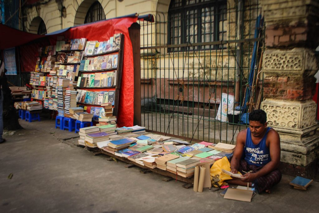 An open air bookstall downtown in Rangoon. (Photo: Libby Hogan / DVB)